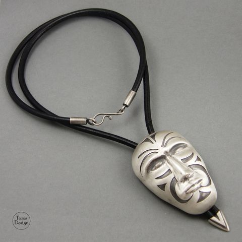 Face,With,Ornaments,|,SILVER,PENDANT,Silver Pendant, handmade jewellery uk