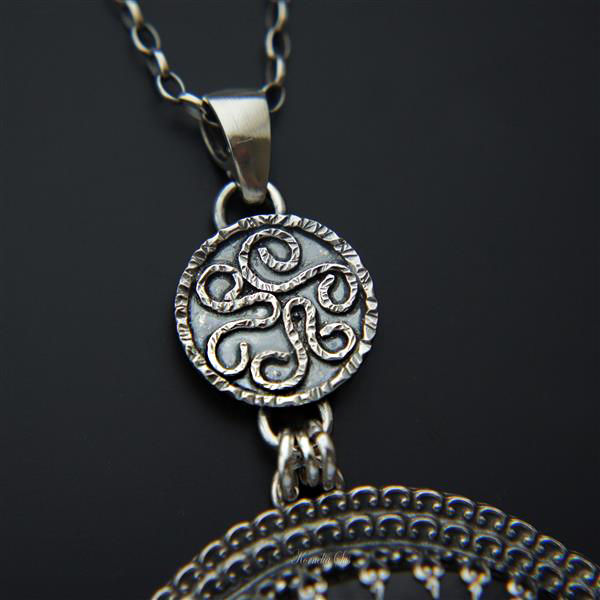 Aztec Night | SILVER PENDANT NECKLACE With BLACK ONYX - product images  of