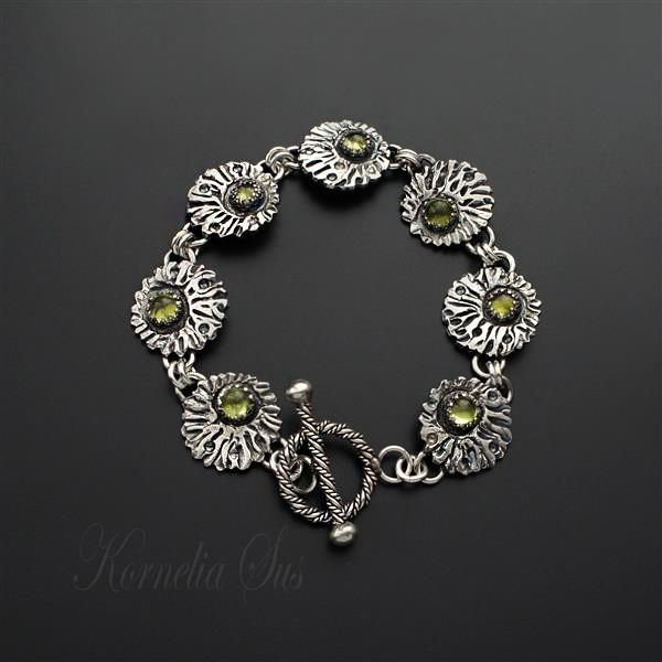 Birch Forest | SILVER & PERIDOT BRACELET - product images  of