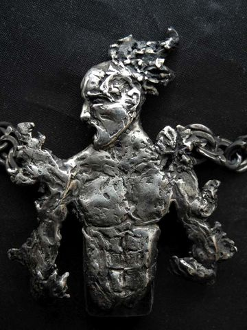 Prometheus,|,PENDRIVE,SILVER,NECKLACE,Pendrive Silver Necklace, silver clay jewellery