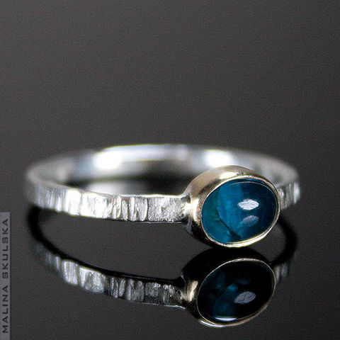 APATITE,In,GOLD,|,SILVER,SOLITAIRE,RING,Gold & Silver Apatite Solitaire Ring, luxury silver jewellery