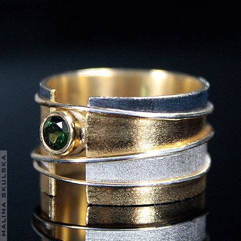 Tricolour,|,SILVER,RING,With,GREEN,TOURMALINE,Silver ring With Green Tourmaline, luxury silver jewellery