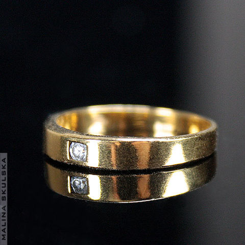 GOLD,PLATED,RING,With,ZIRCON,Gold Plated Ring With Zircon, handmade silver jewellery