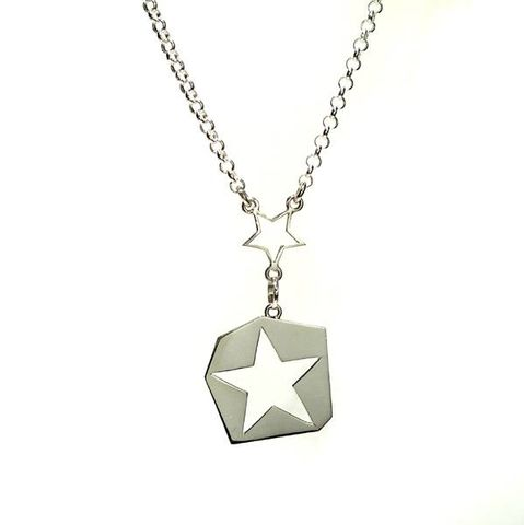 Constellations,|,SILVER,STAR,PENDANT,NECKLACE,Silver Pendant Necklace, star pendant, luxury jewellery