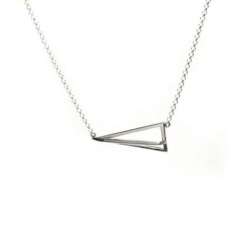 GEOMETRIC,|,PYRAMID,SILVER,PENDANT,NECKLACE,Pyramid Silver Pendant, geometric necklace