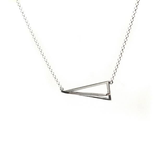 GEOMETRIC | PYRAMID SILVER PENDANT NECKLACE - product images  of