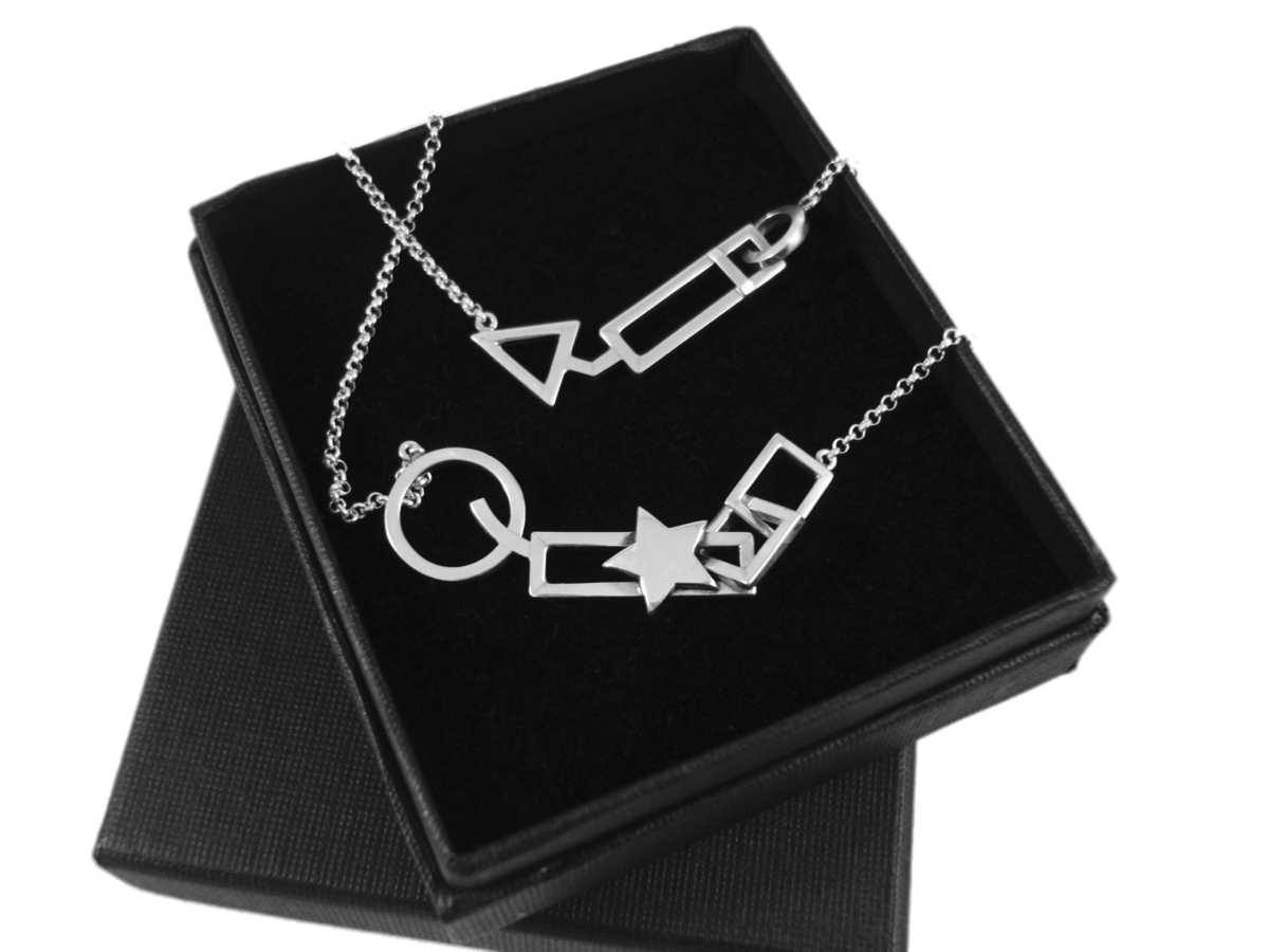 GEOMETRIC | ARROW SILVER PENDANT NECKLACE - product images  of