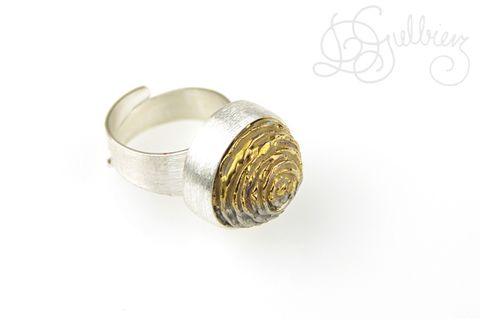 Desert,Rose,|,SILVER,RING,With,CERAMIC,Silver Ring, ceramic ring, bespoke handmade jewellery