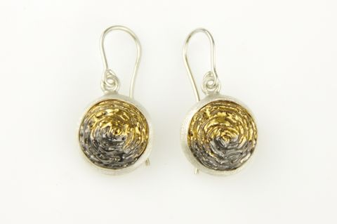 Desert,Roses,|,SILVER,DANGLE,EARRINGS,With,CERAMIC,Silver Dangle Earrings, ceramic earrings, bespoke artistic jewellery