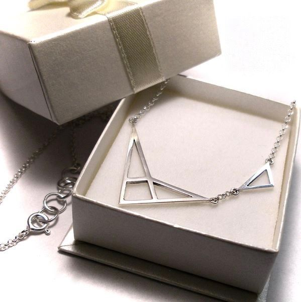 GEOMETRIC | SILVER PENDANT NECKLACE - product images  of