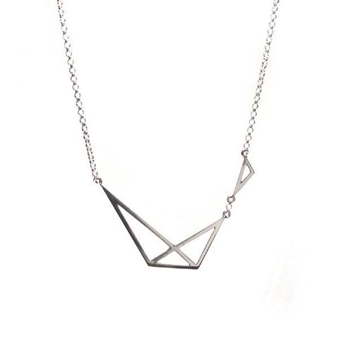 GEOMETRIC,|,SILVER,NECKLACE,Geometric Silver Necklace, silver pendant, artisan jewellery