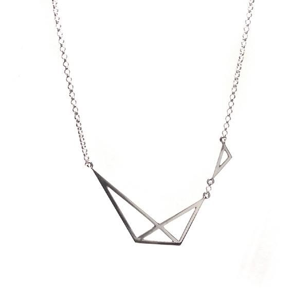 GEOMETRIC | SILVER NECKLACE - product images  of