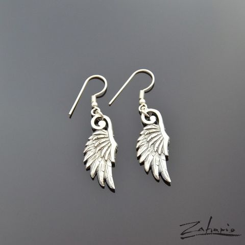 Angelic,Touch,STERLING,SILVER,DANGLE,EARRINGS,Sterling Silver Dangle Earrings, silver wings earrings, bespoke jewellery
