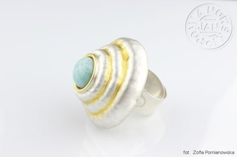 Teotihuacan,Pyramid,of,the,Sun,|,STATEMENT,SILVER,LARIMAR,RING,Silver big Ring, larimar Tring, bespoke silver jewellery