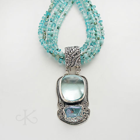 Carried,by,the,wind,|,SILVER,COLLAR,NECKLACE,With,ANDARA,&,AQUA,AURA,CRYSTALS,Silver Collar Necklace, Andara crystal necklace, aqua aura crystal jewellery