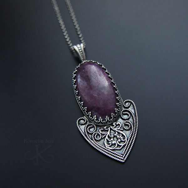 Deep In The Heart | SILVER RUBY PENDANT NECKLACE - product images  of