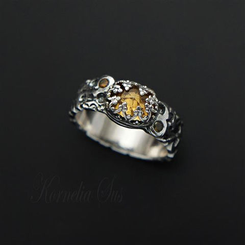 Lemon,Grove,|,SILVER,RING,With,CITRINE,Silver Ring With Citrine, handmade jewellery store