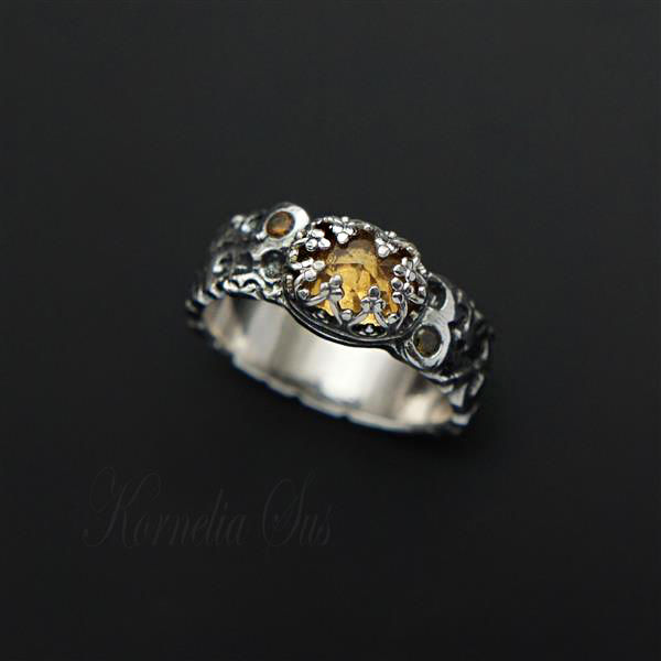 Lemon Grove | SILVER RING With CITRINE - product images  of