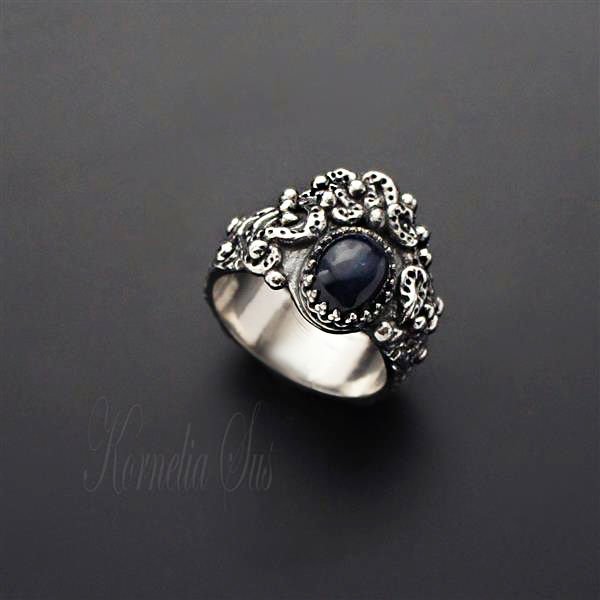 The Night Star | SILVER SAPPHIRE RING - product images  of