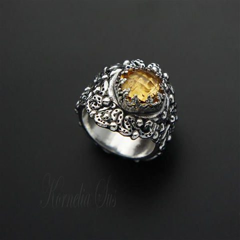 Sunny,Morsel,|,SILVER,CITRINE,RING,Silver Citrine Ring, ethical fashion, ethical designers