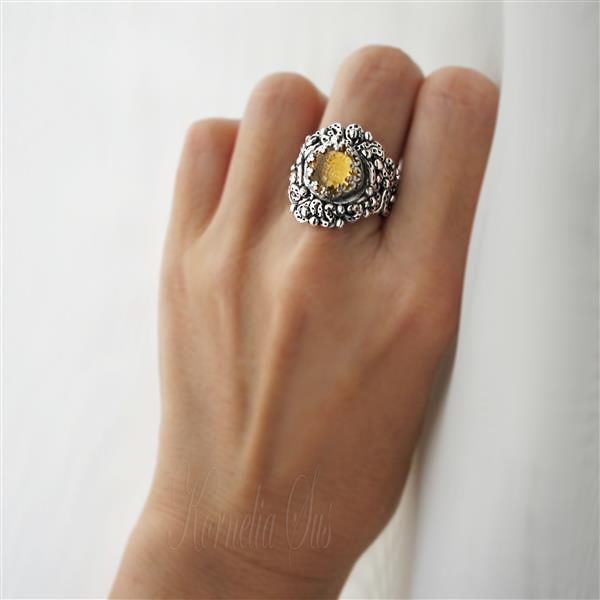 Sunny Morsel | SILVER CITRINE RING - product images  of