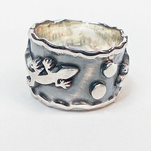 Lizards,SILVER,BAND,RING,Lizards Silver Band Ring, mens jewellery store