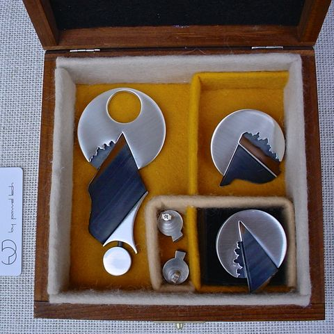 Space,Odyssey,|,SILVER,&,BLUE,TIGER,EYE,JEWELLERY,SET,Jewellery Set, blue, tiger eye, silver jewelry