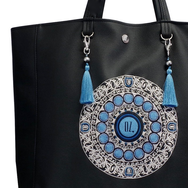 OCEAN MANDALA EMBROIDERED XL SHOPPER ETNO | PU LEATHER TOTE BAG