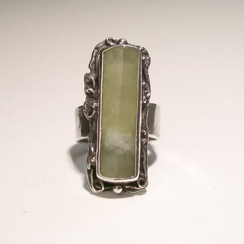 Mint,|,Silver,&,Jade,Ring,Jade Ring, silver handmade jewellery store London