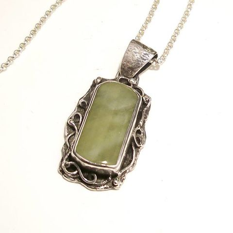 Mint,|,Silver,&,Jade,Pendant,Jade Pendant, silver handcrafted jewellery shop London