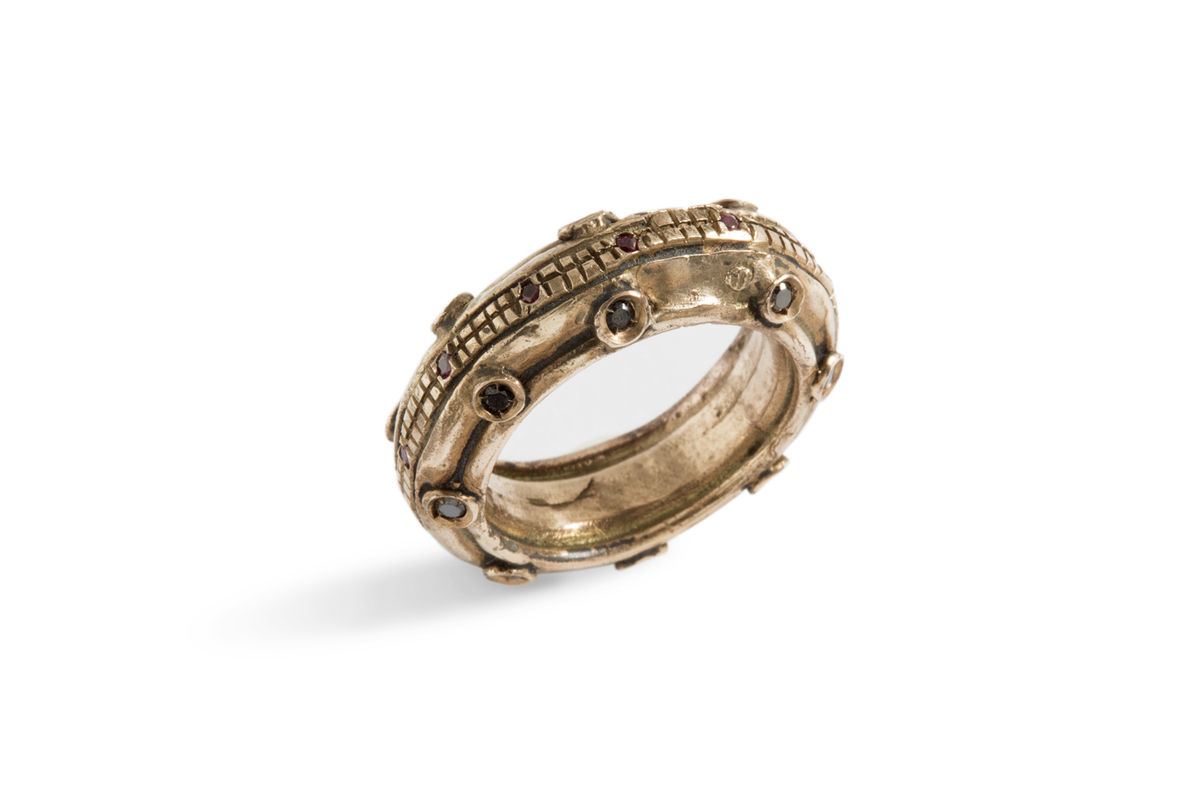 Ruota | Bronze Ring With Ruby, Diamond - product images  of