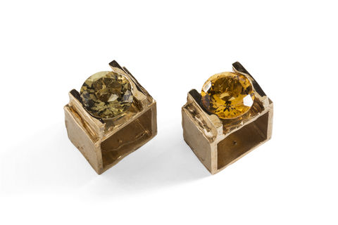 BIG,SQUARE,|,BRONZE,&,QUARTZ,RING,Bronze Square Ring, faceted quartz ring, handcrafted jewellery store London