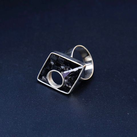 Falling,Star,SILVER,&,GLASS,RING,Glass Ring, silver ring, jewellery store united kingdom