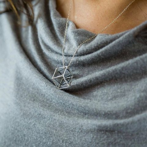 INTERTWINED,CUBES,|,SILVER,PENDANT,NECKLACE,Silver Cubes Necklace, pendant, silver jewellery store