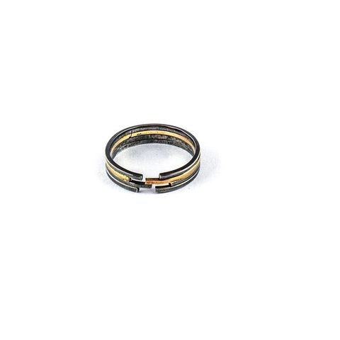 ARCHITECTURE,MIXED,LINES,|,SILVER,&,GOLD,BAND,RING,Silver Ring, gold band ring, luxury jewellery store