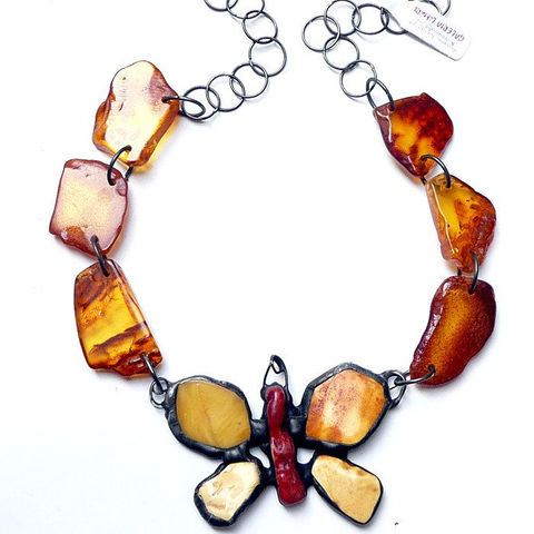 Butterfly,BALTIC,AMBER,NECKLACE,Baltic Amber Necklace, butterfly necklace, unique jewellery