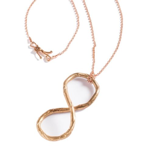 INFINITO,Bronze,&,Gold,Plated,Pendant,Necklace,Infinity Gold Plated Pendant, Bronze Necklace, bespoke jewellery store UK
