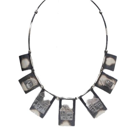 Forgotten,Alley,|,Silver,Necklace,Oxidised silver Necklace, artisan jewellery shop London