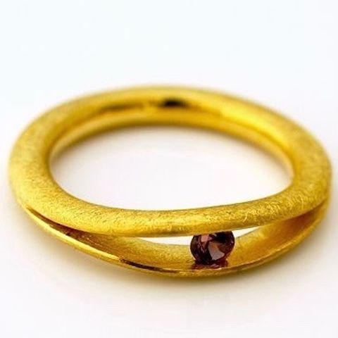 GOLD,PLATED,RING,With,GARNET,Gold Plated Ring, garnet ring uk, bespoke silver rings, handmade artisan jewelry