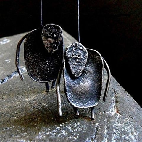 Silence,In,The,Forest,|,OXIDISED,SILVER,EARRINGS,Oxidised Silver Earrings, Contemporary Jewellery, Handmade Jewellery
