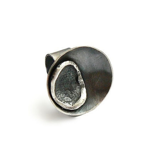 Duo,|,Round,OXIDISED,SILVER,RING,Oxidised Silver Ring, round ring, silver bespoke jewellery