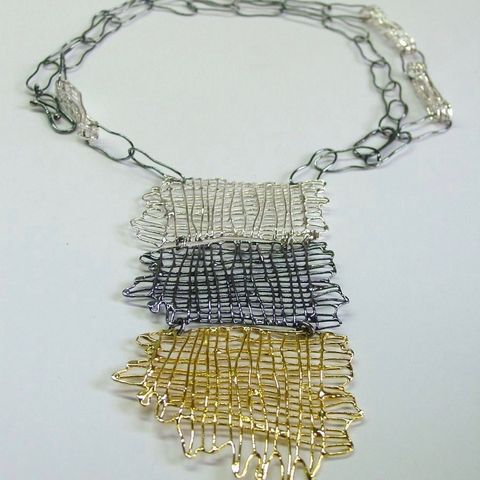 IM,I,|,GOLD,PLATED,&,OXIDISED,SILVER,NECKLACE,Gold Plated Silver Necklace, oxidised necklace, bespoke artisan jewellery