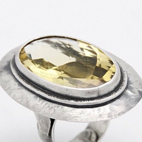 Circe,|,SILVER,OVAL,RING,With,CITRINE,Silver Oval Ring, citrine ring, bespoke jewellery