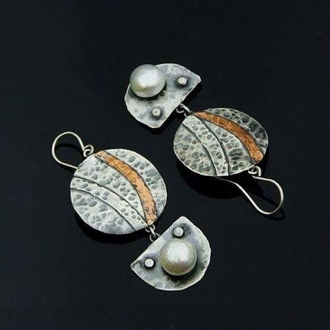 Igerna,|,SILVER,DROP,EARRINGS,With,PEARLS,Silver Drop Earrings, pearl earrings, bespoke jewellery