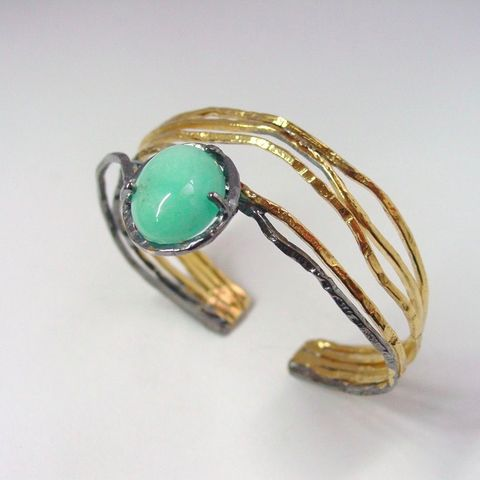 IM,XVI,|,SILVER,GOLD,PLATED,CUFF,BRACELET,With,TURQUOISE,Gold Plated Cuff, turquoise bracelet, bespoke jewellery store