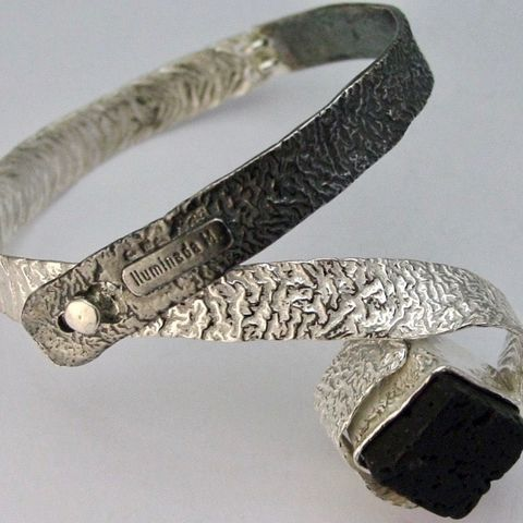 IM,XXIV,|,STERLING,SILVER,BRACELET,With,VOLCANIC,STONE,Sterling Silver Bracelet, volcanic stone, unique handmade jewellery