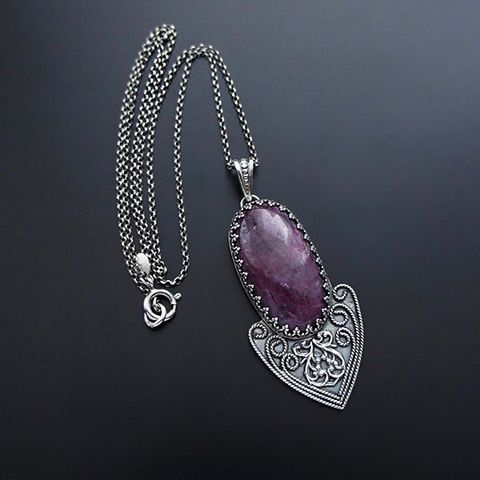 Deep,In,The,Heart,|,SILVER,RUBY,PENDANT,NECKLACE,Silver Ruby Necklace, drop pendant, silver jewellery store, boho pendant necklace