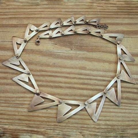 Snake,|,SILVER,Geometric,Necklace,Silver Geometric Necklace, handmade jewellery shop London,