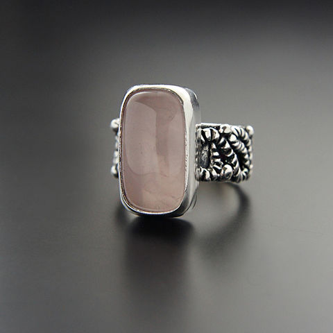 Magnolia,|,Silver,Rose,Quartz,Ring,Rose Quartz Ring, silver ring, jewellery shop, online shopping