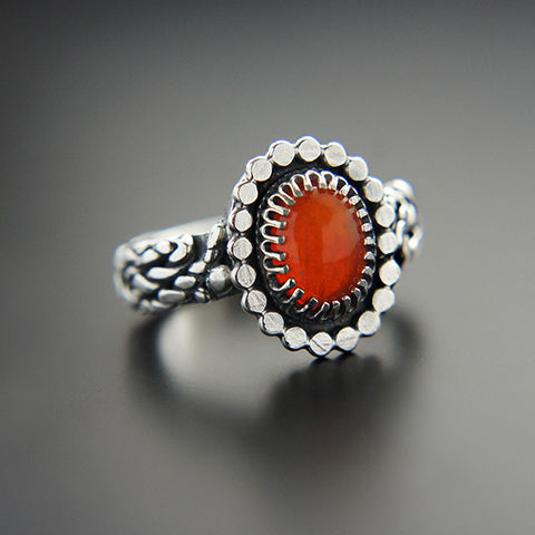 The,Drop,Of,Fire,|,Silver,Red,Opal,Ring,Red Fire Opal Ring, silver ring, chick style, online shopping